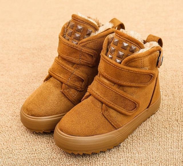 Mode d'hiver de bébé de modèle de botte de coton de bottes chaudes de neige kaki Itm6BWOD