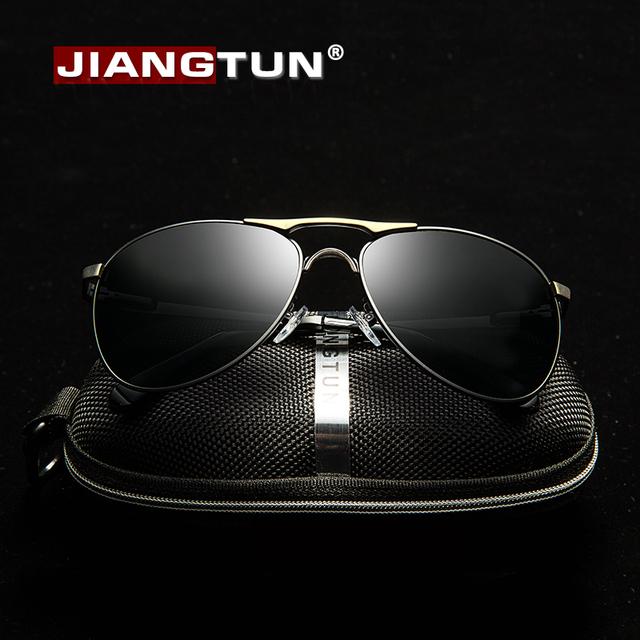JIANGTUN Unissex Marca Clássicos Óculos De Sol De Alumínio HD Lente Polarized Vintage Óculos Acessórios Óculos De Sol Para Homens