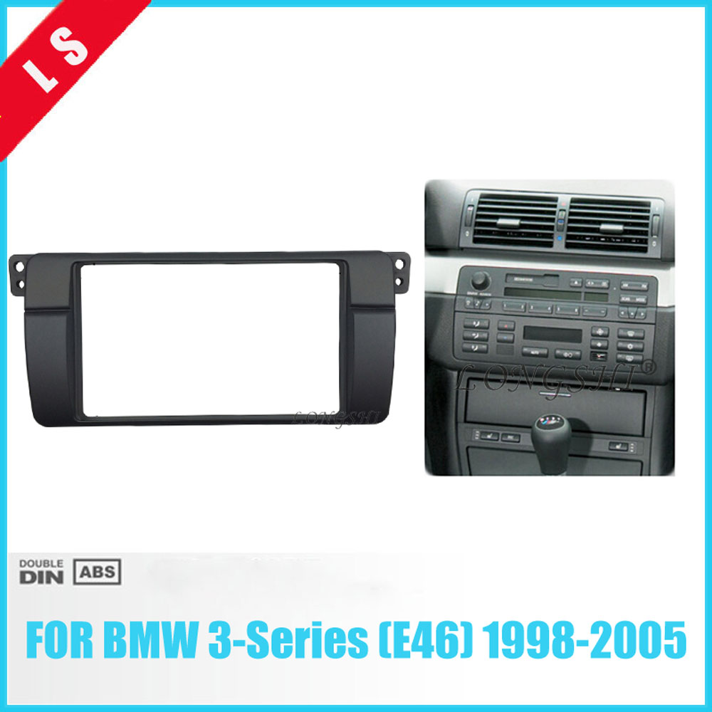 2din Car Stereo Fascia Dash Cd Trim Installation Kit For Bmw E46 2 Radio Panel Wiring Fitting Din Adaptor Frame 3 Series 17398mm In Fascias From Automobiles