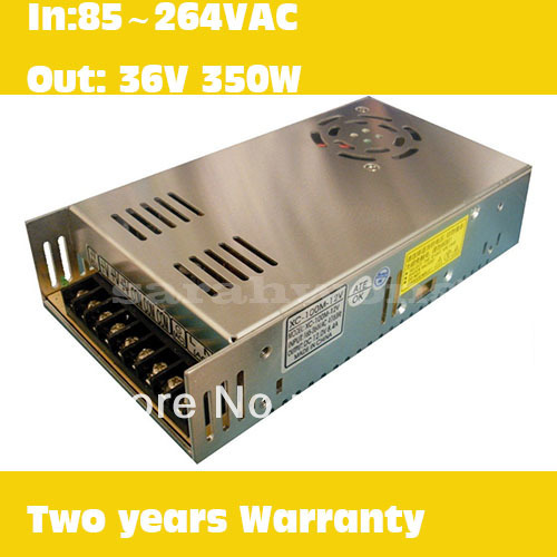 ФОТО 350W 36V  AC/DC Switching Power Supply with 85 -264V Input Voltage  best quality alluminum shell led power supply UL CE approved