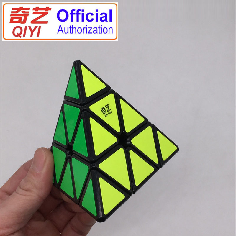 QiYi Pyraminx Rubiks Cube Professional Speed Puzzle Cubo Magico Education Toys For Children Gift 95MM Pyramid Magic Cube MFJ02