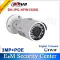 Оригинал Dahua Оригинал Dahua IPC-HFW1320S заменить IPC-HFW4300S 3-МЕГАПИКСЕЛЬНОЙ Full HD Сеть Малый ИК-Цилиндрические Видеокамеры POE сеть видеонаблюдения IPC