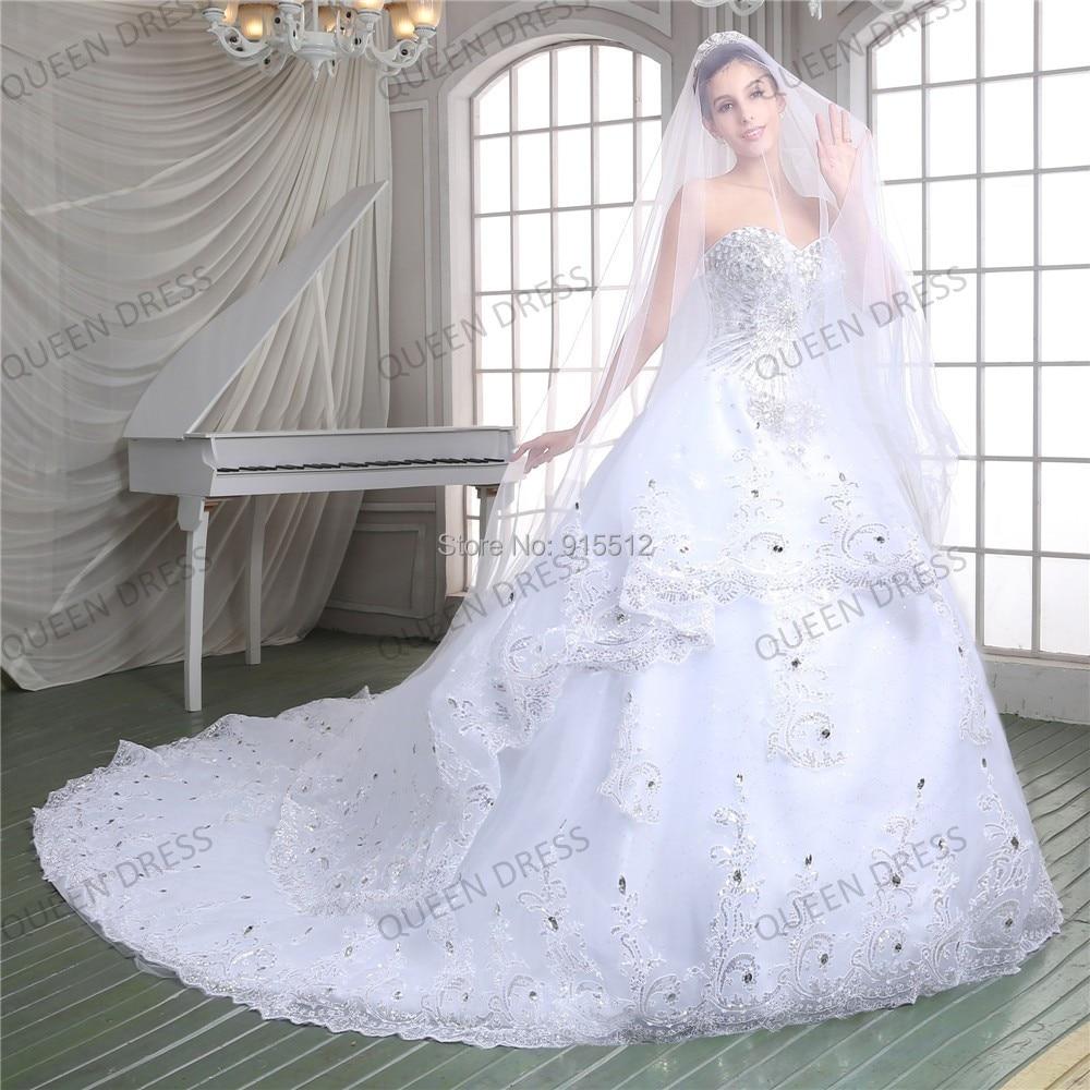 Sweetheart Neckline Ball Gown Bling Beading Vestido de noiva 2015 ...
