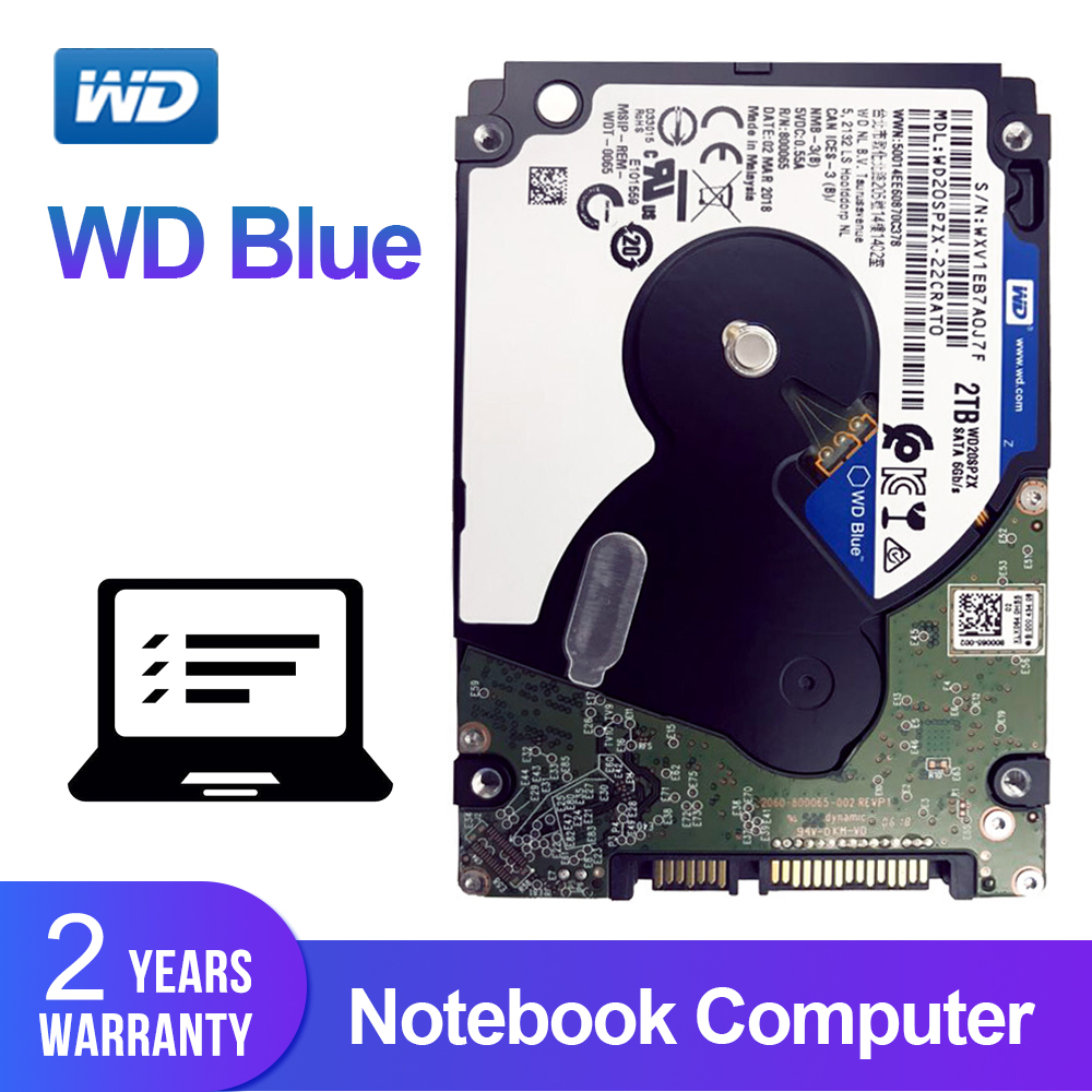 WD Blue 2TB 2 5 notebook hdd SATAIII Mobile Hard Disk Drive 5400 RPM SATA 6Gb