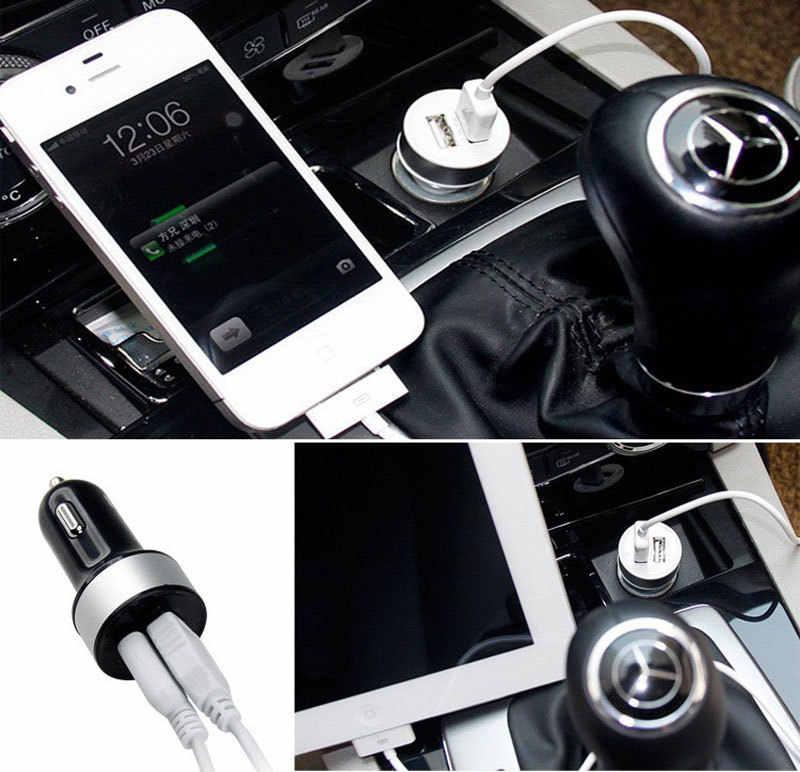 Chất Lượng cao Phổ Thông Minh Mạch Cầu Chì-Breaker Bảo Vệ Kép USB Port 5 V 2.1A 1A Car Charger For Mobile điện thoại Tablet PC