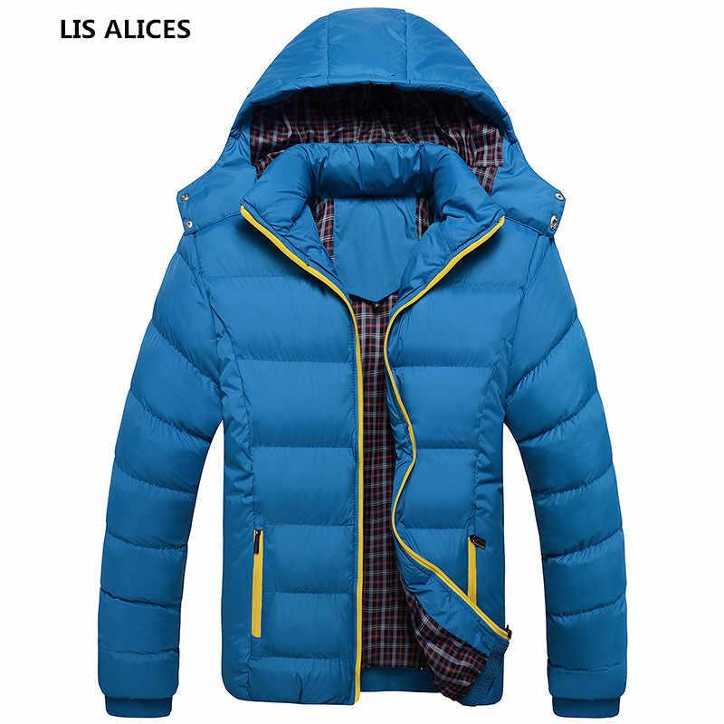 2018 新ファッション厚手のパーカー男性プラスサイズ 4XL フード付き雪コート通気性暖かい熱冬 Jakcet 男性ブランド服