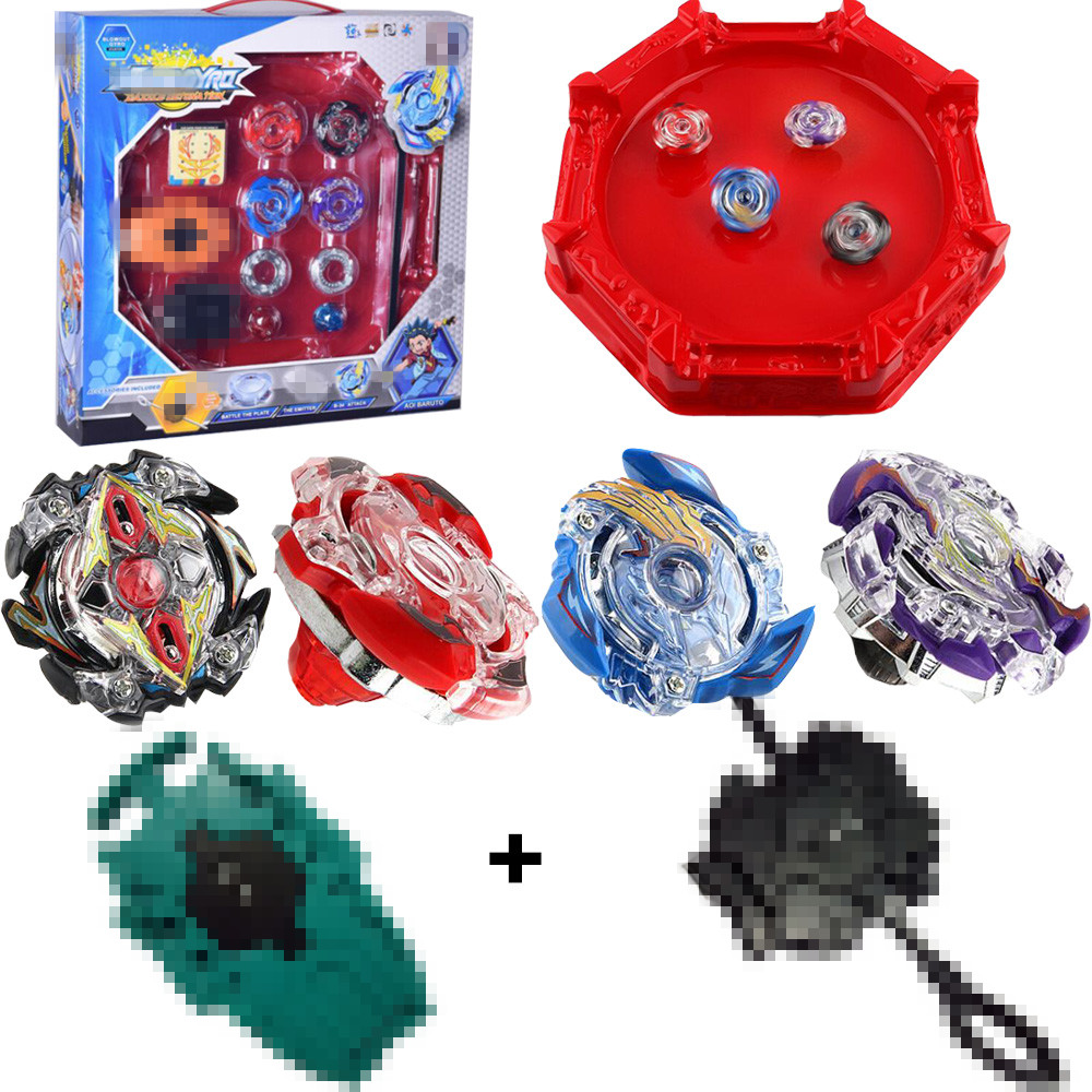 Spinning Top Burst 4D Set Classic Toys With Launcher and Arena Metal Fight Battle Fusion Original Box For Boy birthday Gift