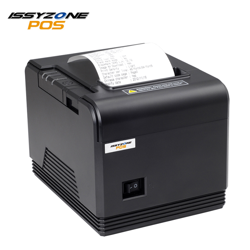 ISSYZONEPOS 80mm Thermal Printer Serial/USB/Ethernet/Bluetooth Port ESC/POS Receipt Printers automatic cutter pos bill printer itpp066 high quality 80mm thermal receipt printer 260mm s automatic cutter usb serial ethernet port esc pos