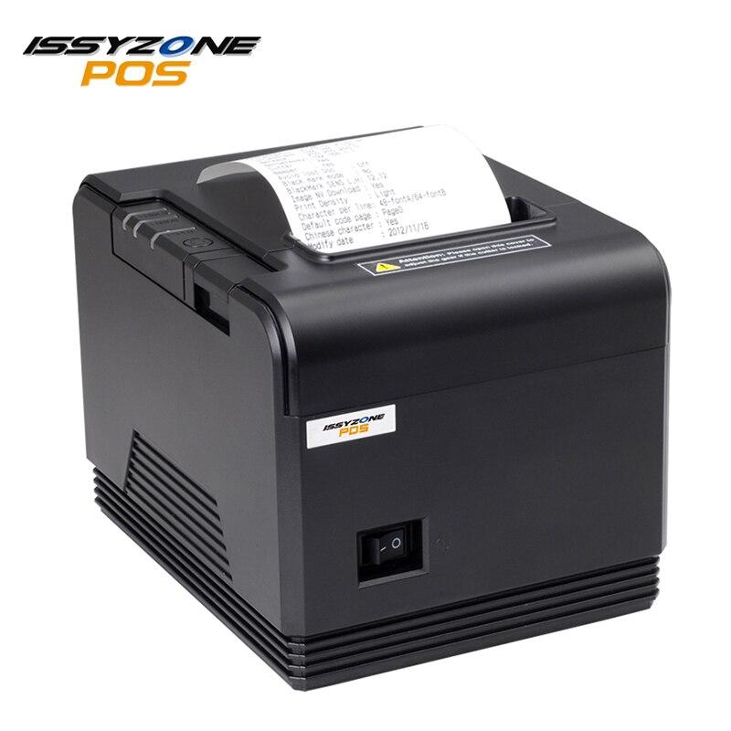 ISSYZONEPOS 80mm Thermique Imprimante Série/USB/Ethernet/Bluetooth Port ESC/POS Réception Imprimantes automatique cutter pos bill imprimante