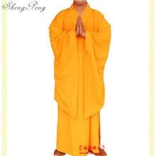 Vesti monaco buddista cinese shaolin monk abiti uomo tradizionale buddista  monaco abbigliamento uniforme monaco shaolin abbigliamento 82f932e106d