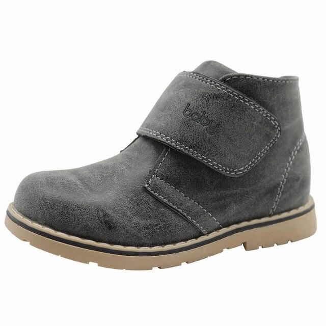 Apakowa 2016新しい冬の子供靴puレザー防水マーティンブーツ子供の雪のブーツブランド幼児の女の子男の子ラバーブーツ