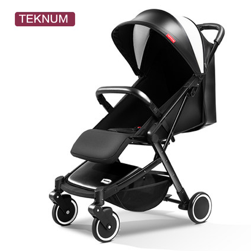Teknum baby stroller ultra-light can ride can be lying portable umbrella folding mini four round childrens trolley