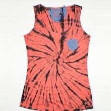 Для женщин галстук краситель карман майка плюс Размеры США Размеры S-XXL(большой Fit