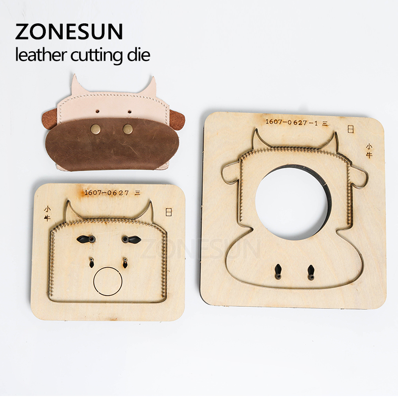ZONESUN Customized calf shape Leather coin holder change purse minimalist wallet cutting mold die cutter animal Japanese steel