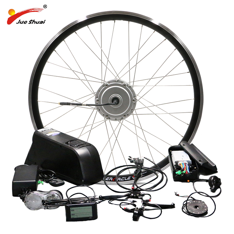 BAFANG de rueda de Motor 48 V 500 W bicicleta eléctrica Kit de conversión de la batería con 8FUN BPM frente Hub Motor velo electrique bafang Kit Ebike