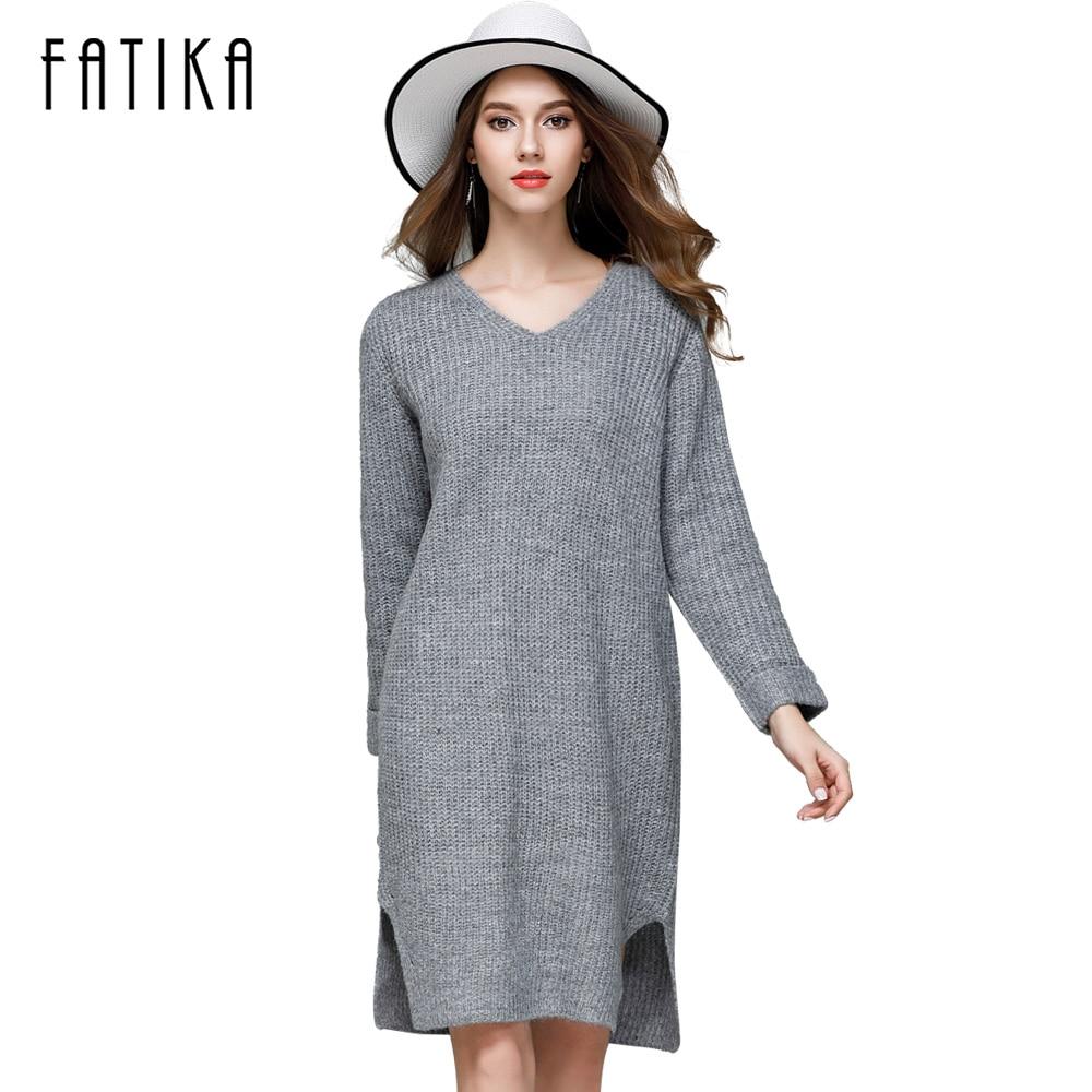 Online Get Cheap Sweater Dress Side Slit -Aliexpress.com | Alibaba ...