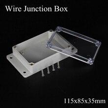 IP65 115x85x35 мм водонепроницаемая распределительная коробка прозрачная пластиковая проектная коробка Клеммная прозрачная уличная коробка для крепления на стену