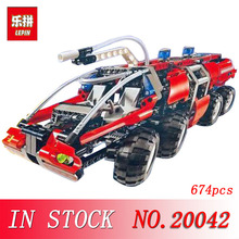 20042 674Pcs Lepin Genuine Changing Technic Series The Airport Fire Truck Set Educational Building Block Bricks Toy for children