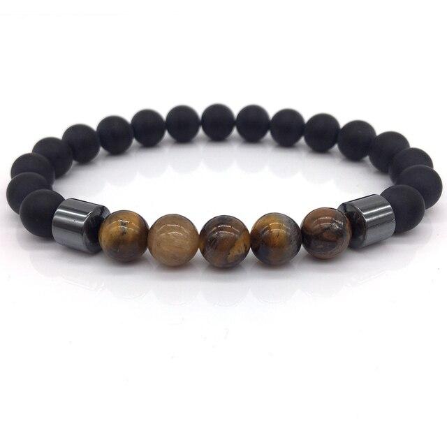 Tiger Eye Bead Bracelet Men New Fashion Simple Natural Stone Vintage Beaded Handmade Charm Bracelet For Men Jewelry Gifts