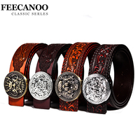 Hot Sale Fashion Round Buckle Designer Belts Mens Luxury Famous Brand Gasual Cinto Masculino Cowhide Waist