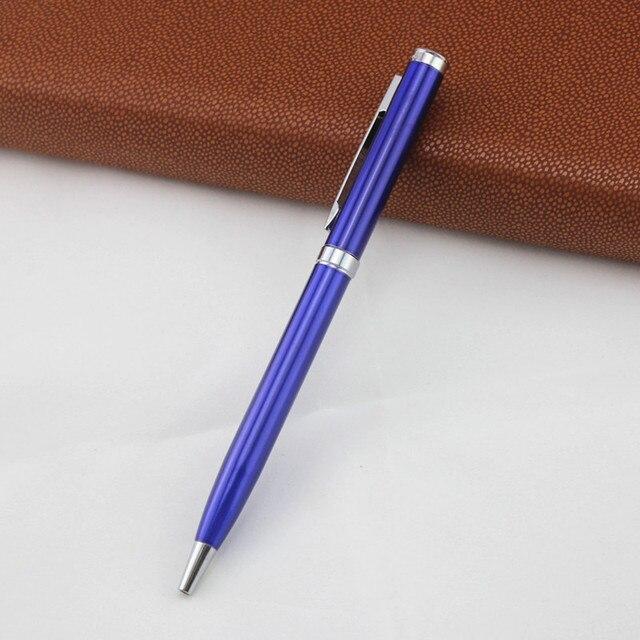 full metal ballpoint pen Rotary metal ball pen For Business Writing Office School Supplies black ink Refill Gifts pen 2