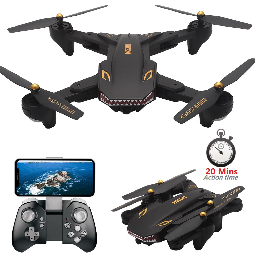 Teeggi VISUO XS809S Foldable Selfie Drone with Wide Angle HD Camera WiFi FPV G-sensor RC Qudacopter Helicopter Mini Dron