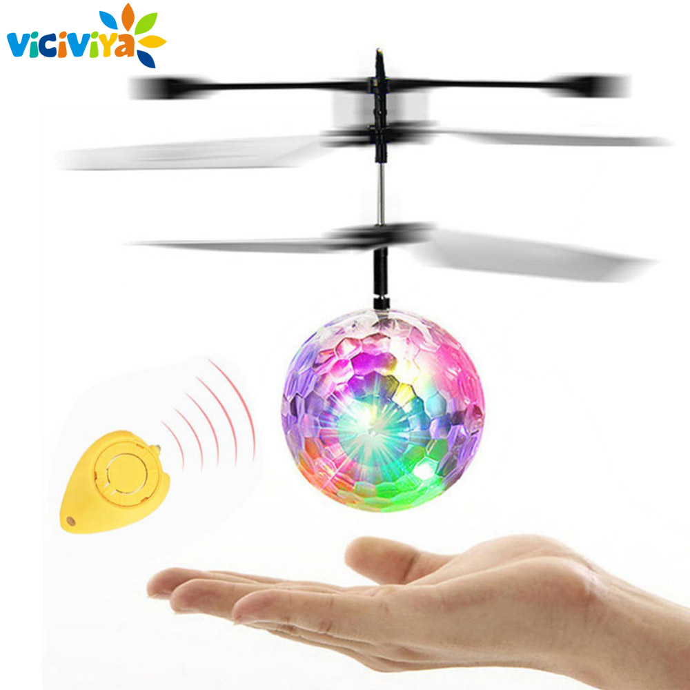 RC Flying Ball Luminous Kid's Flight Balls Electronic Infrared Induction Aircraft Remote Control Toys LED Light Mini Helicopter цена