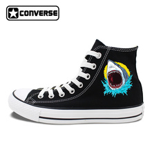 Original Canvas Sneakers Design Great White Shark Skateboarding Shoes Men Converse All Star Brand Chuck Taylors Women