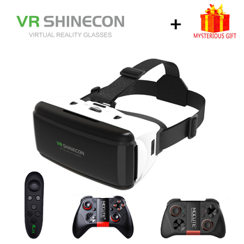 VR Shinecon G06 Virtual Reality Glasses 3D For Smart Phone Smartphone Headset Gerceklik Helmet Goggles Google Cardboard Casque