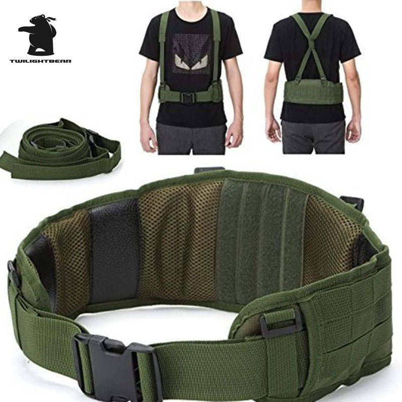 Military Molle Tactical Belt High Quality 600D Nylon Waterproof Outdoor Multifunction Tactical Belt 5 Color BE012