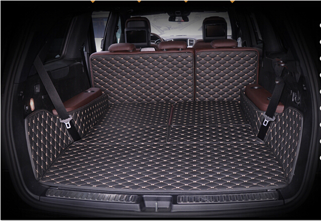 Car Travel high quality Special trunk mats for Mercedes Benz GL 63 AMG X166 7seats 2016-2013 waterproof boot carpets for GL63
