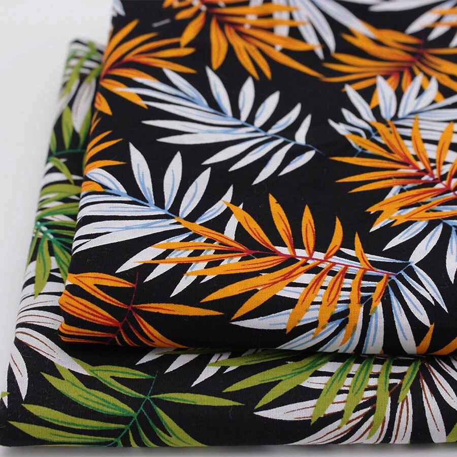 Impreso de tela de algodón para diy patchwork quilting coser tela floral hoja de