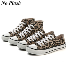 2019 Fashion Leopard Women Casual Shoes Autumn Winter High-top Canvas Shoes Women Sneakers Ladies Lace-up Flats zapatos de mujer satin high top candy casual rainbow ladies harajuku flats elevator designer shoes women luxury 2018 lace up sneakers patchwork