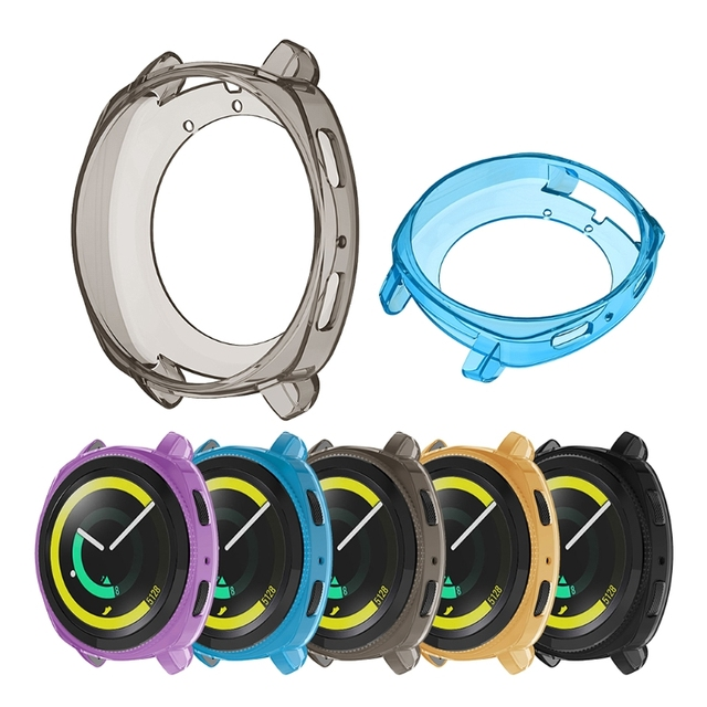 Free delivery Silicone Watch Full Case For Samsung Gear Sport Watch Clear Soft T