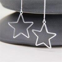 JINSE Vintage Antique Silver Hollow Out Dream Catcher Dangle Earrings Leaf Tassel Pendant Charms Drop Earrings