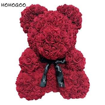 Hohogoo 1 Pc 25 Cm Rose Fleur Ours Diy Artificielle Sechees Fleur De