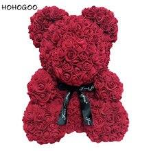 HOHOGOO 1 шт 25 см розы Медведь DIY Искусственные сухие цветы свадебные Юбилей Валентина подарок для подруги ребенка