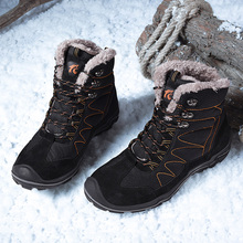 Warm Men Hiking Shoes Waterproof Leather Climbing & Fishing New Popular Outdoor High Top Winter Boots