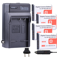 Tectra 4Pcs NP BG1 NP FG1 NP BG1 NP FG1 bateria + Digital Charger for Sony DSC H3 DSC H7 DSC H9 DSC H10 DSC H20 DSC H50 DSC H55