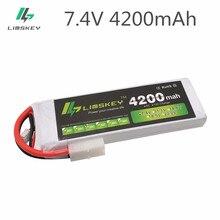 Limskey racing 2s bateria de lipo, 7.4v 4200mah 30c para rc carro helicóptero rc barco quadcopter li-bataria de polímero