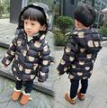 80-120 Children's boy Little bear Cartoon cotton-padded jacket kids winter Cotton-padded coat wholesale