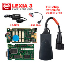 Firmware Lexia3 Pp2000 Diagbox PSA Peugeot Citroen Full-Chip for with S.1279 And 30pin-Cable