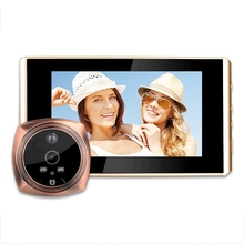 Digital Peephole Video Camera Door Bell Video-Eye Support Sd Card Taking Photo Door Peephole Viewer Monitor For Home retractable home security camera optical glass anti theft video door peephole