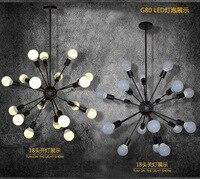 DIY открытый подвесные светильники современный Nordic ретро висит лампы для мотоциклов лампочка Эдисона светильники паук потолочный светильни