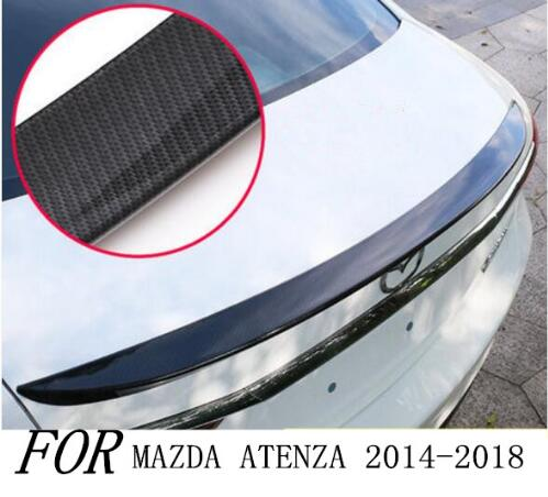 High Quality CARBON FIBER CRA REAR WING TRUNK LIP <font><b>SPOILERS</b></font> FIT FOR <font><b>MAZDA</b></font> <font><b>6</b></font> ATENZA <font><b>2014</b></font> 2015 2016 2017 2018 2019 image