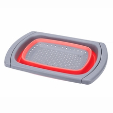 Кухня Складной Дуршлаг на раковину фильтр с устойчивая подставка для постоянного 6-Кварта Ёмкость мыть в посудомоечной машине