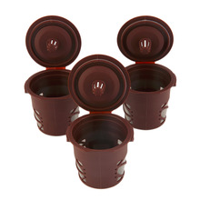 Food Grade Plastic PP +Silicone + Stainless Steel Coffee Tool Refillable Coffee Capsules Pod For Nespresso Filters Kitchen Tool