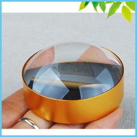 3X Optical Convex Lens Circle Domed Paperweight Magnifying Glasses Desktop Spherical Optical Magnifier