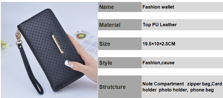 New Wallet Women S Long Zipper Purse Woman Clutch Handbag Korean Female Phone Bags Clutch Coin Purse Free Shipping