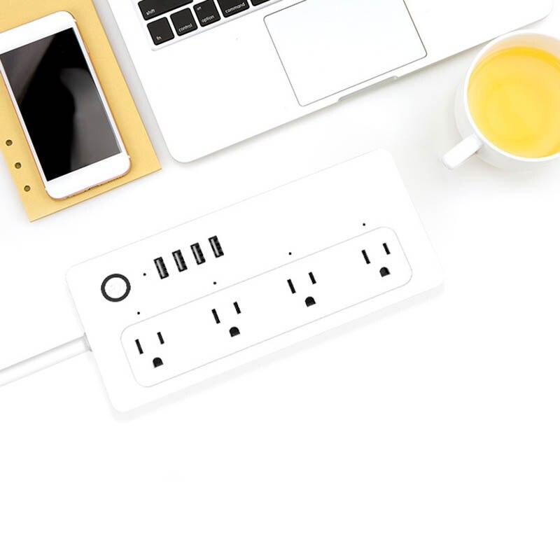 Nouveau WiFi Smart Sortie US Plug 4 USB fonction minuteur Rapide Charge Safe Anti-slip Pour La Maison WWO66 - 6
